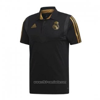 Camiseta Polo del Real Madrid 2019-2020 Negro y Oro