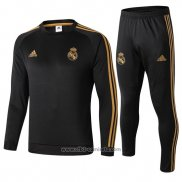 Chandal del Real Madrid 2019-2020 Negro y Oro