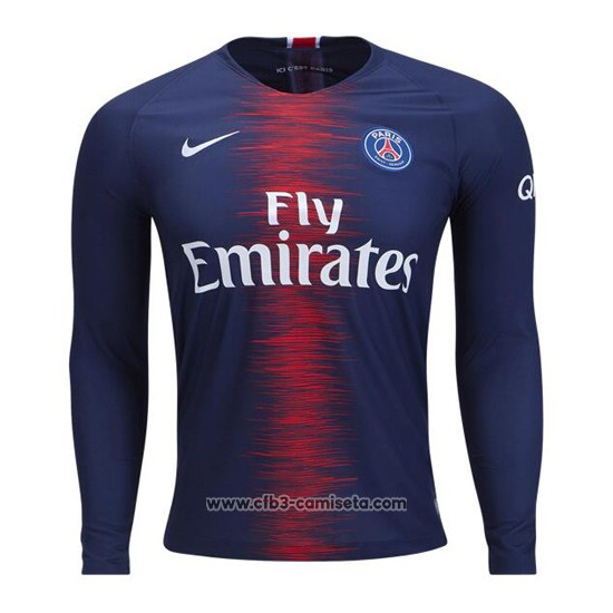 Camiseta Paris Saint-Germain Primera Manga Larga 2018-2019